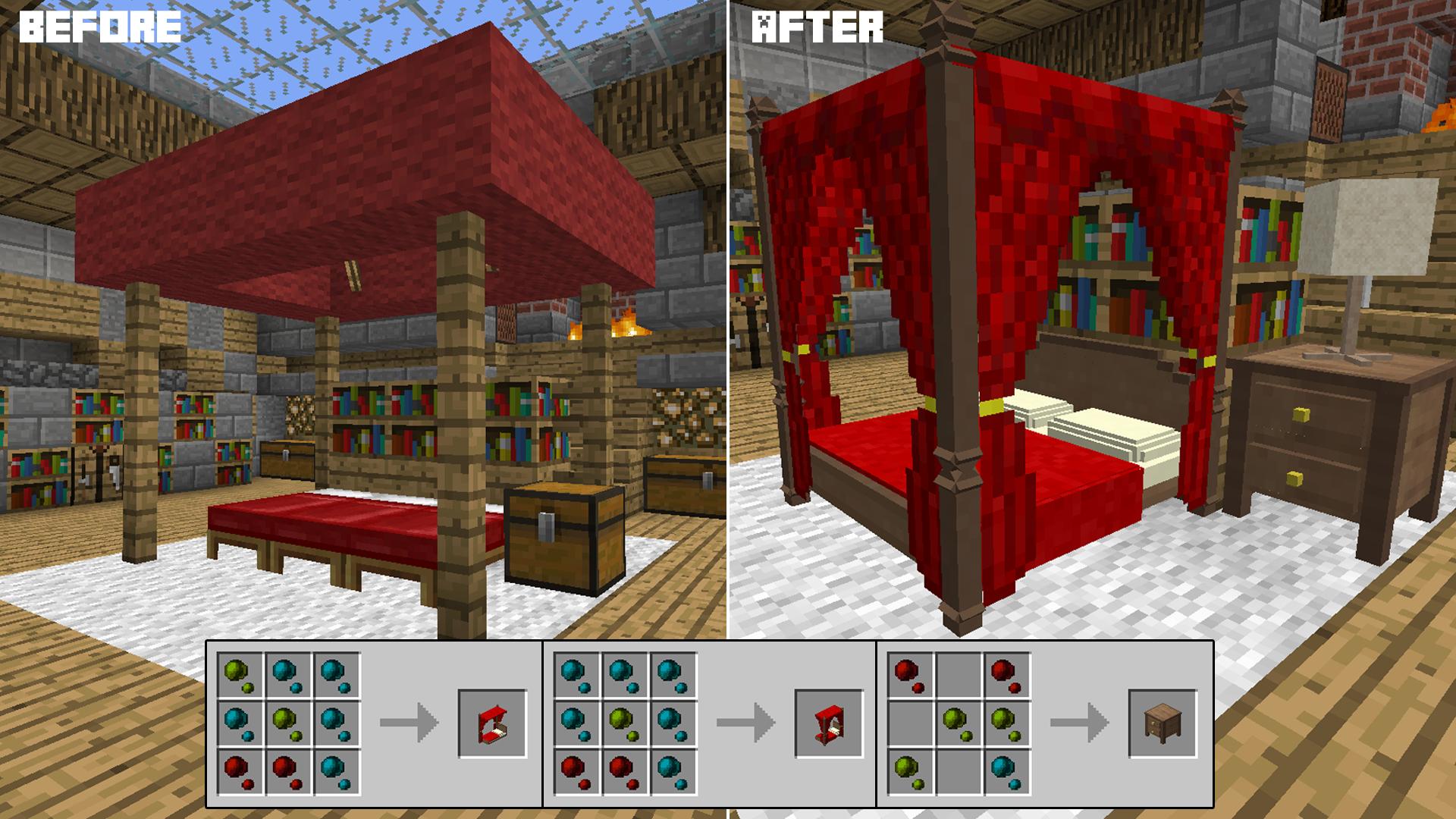 Bedrooms in minecraft