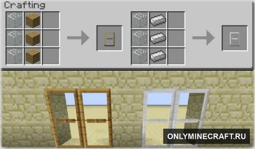 Как сделать в майнкрафте двери?
